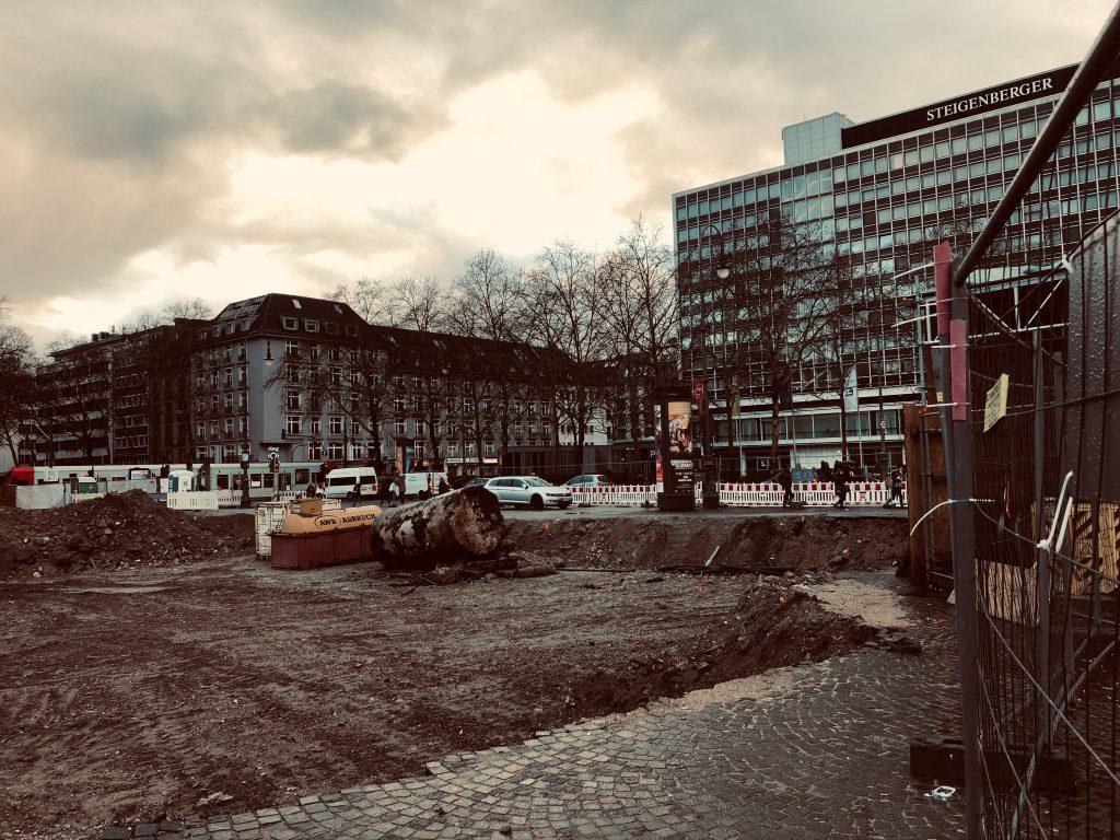 Construction site at Ruldolfplatz, Cologne
