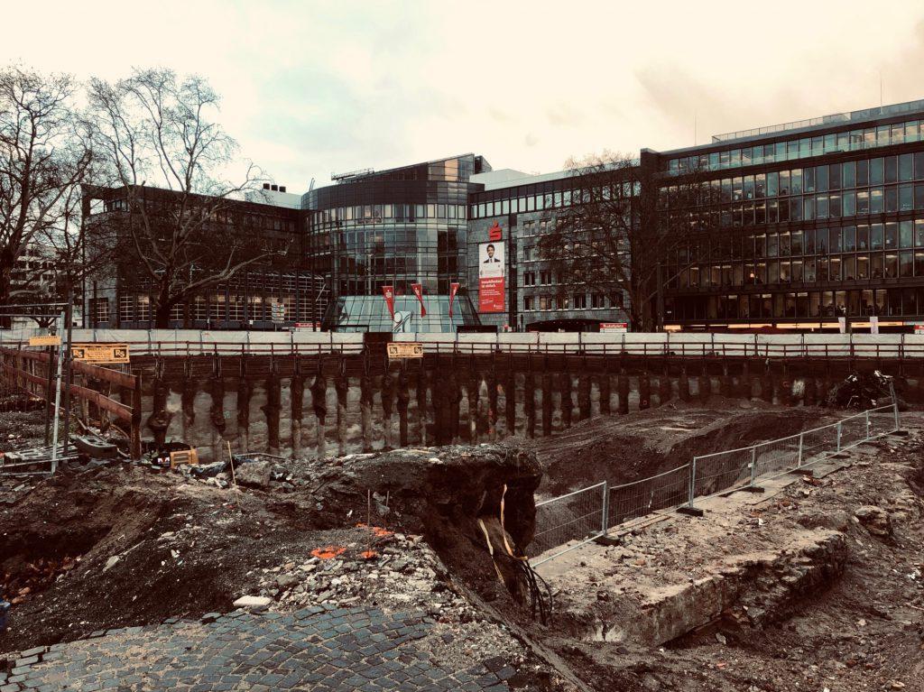 Construction site at Rudolfplatz, Cologne