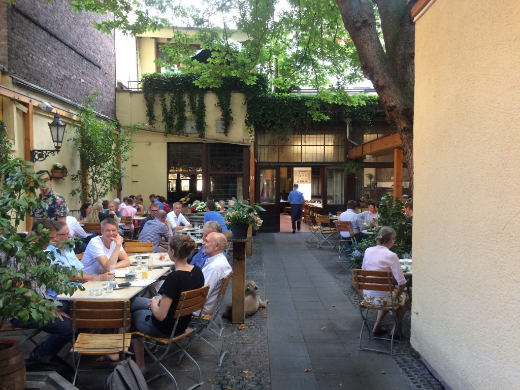 Beer garden at Brauerei Paeffgen, Cologne