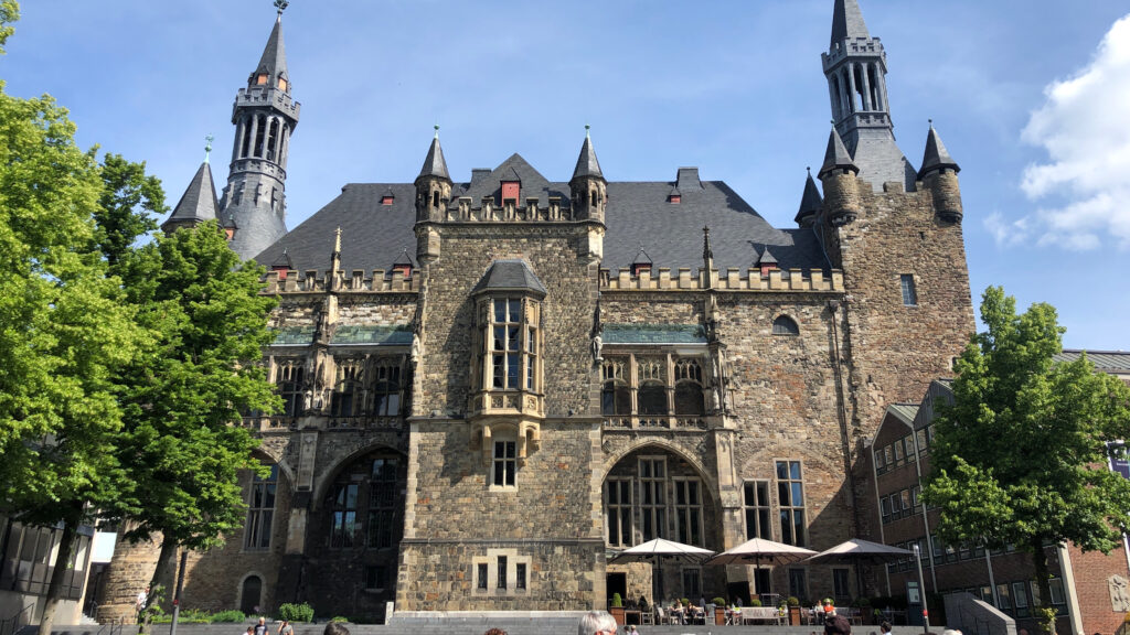Aachen City Hall in good weather